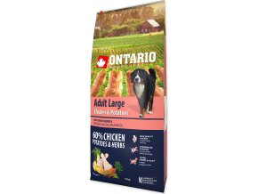 ONTARIO Dog Adult Large Chicken & Potatoes & Herbs 12kg