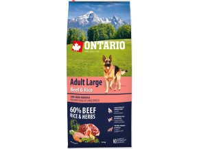 ONTARIO Dog Adult Large Beef & Rice 12kg