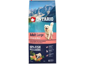 ONTARIO Dog Adult Large Fish & Rice 12kg