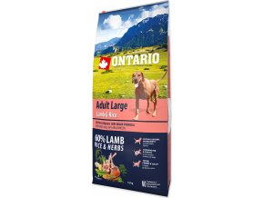 ONTARIO Dog Adult Large Lamb & Rice & Turkey 12kg