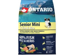 ONTARIO Senior Mini Fish & Rice 2,25kg