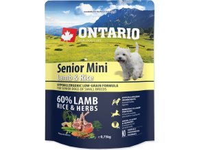 ONTARIO Senior Mini Lamb & Rice 0,75kg