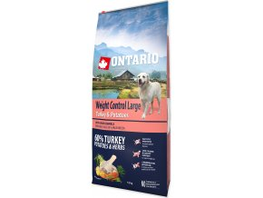 ONTARIO Dog Large Weight Control Turkey & Potatoes & Herbs 12kg