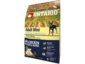 ONTARIO Dog Adult Mini Chicken & Potatoes & Herbs 2,25kg