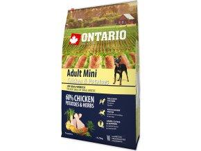 ONTARIO Dog Adult Mini Chicken & Potatoes & Herbs