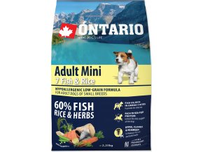 Ontario Adult Mini Fish & Rice 2,25kg (Exp:26.02.19) 2,25kg
