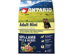 ONTARIO Dog Adult Mini Lamb & Rice 2,25kg