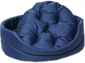 Pelíšek DOG FANTASY ovál s polštářem tmavě modrý 83 cm