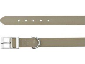 -Easy Life obojek PVC S 27-35cm/17mm taupe-šedý