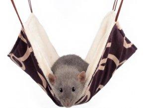 Pelech potkan závěsný Max hnědo-smetanový 30 x 30 cm