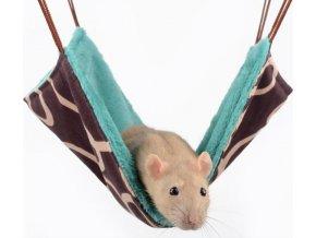 Pelech potkan závěsný Max hnědo-zelený 30 x 30 cm