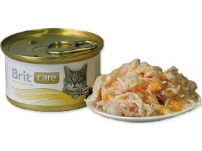 Brit Care Cat konz. - Chicken Breast & Cheese 80 g