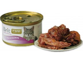 Brit Care Cat konz. - Tuna & Salmon 80 g
