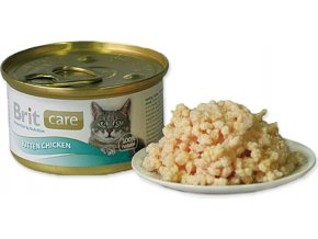Brit Care Cat Kitten konz.kuřecí prsa 80g