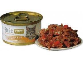 Brit Care Cat konz.tuňák,mrkev & hrášek 80g