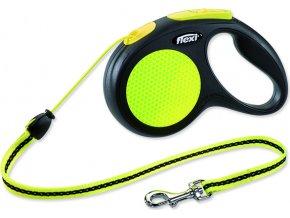 Vodítko FLEXI Neon M šňůra 5 m, max. 20 kg