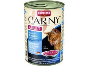 ANIMONDA konzerva CARNY Adult -hovězí, treska, petržel 400g