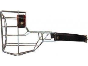 Náhubek kovový Knírač střední - pes, chrom 110 x 110 x 80 mm