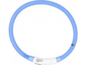 Obojek silikon svítící modrý DUVO+ 45 cm