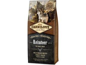 Carnilove Dog Adult Reindeer Grain Free sobí a divočák bez obilovin 12kg