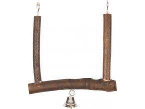 Houpačka pták přírodní dřevo+zvonek Duvo+