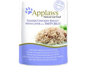 Applaws Cat kaps. kuře a játra v aspiku 70 g