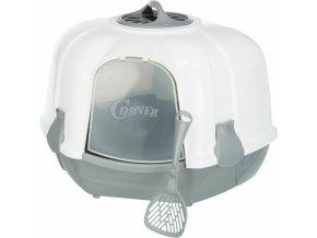 Rohové WC MARO kryté s filtrem a dvířky 60x43x52/52