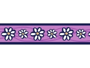 Obojek RD 12 mm x 20-32 cm - Daisy Chain Purple