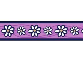 Obojek RD 25 mm x 41-63 cm - Daisy Chain Purple