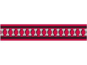 Obojek RD 25 mm x 41-63 cm - Bones Rfx - Červená