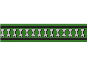 Obojek RD 25 mm x 41-63 cm - Bones Rfx - Zelená