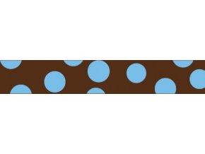 Obojek RD 25 mm x 41-63 cm - Blue Spots on Brown