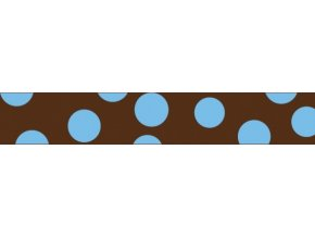 Obojek RD 20 mm x 30-47 cm - Blue Spots on Brown