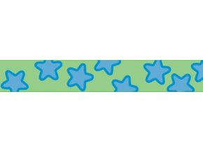 Obojek RD 12 mm x 20-32 cm - Stars Turquoise