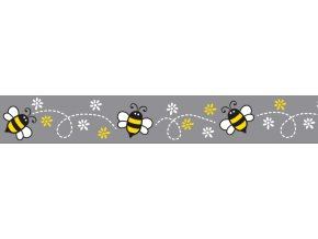 Obojek RD 20 mm x 30-47 cm - Bumble Bee Black