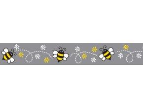 Obojek RD 25 mm x 41-63 cm - Bumble Bee Black