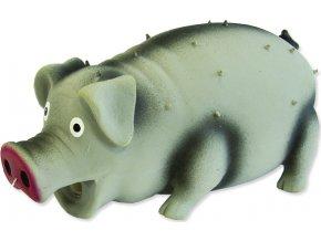 Hračka DOG FANTASY Latex prase chrochtající mix barev 15 cm 1ks