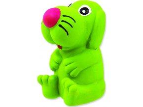 Hračka DOG FANTASY Latex pes se zvukem mix barev 8 cm 1ks