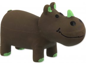 Hračka DOG FANTASY Latex Nosorožec hnědý se zvukem 10 cm 1ks