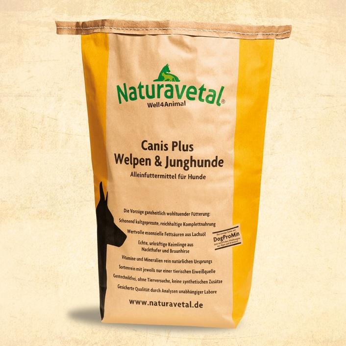 Naturavetal CANIS PLUS pro štěňata a mladé psy malé granule Balení: 15kg
