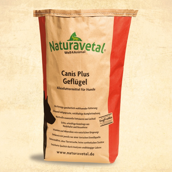 Naturavetal CANIS PLUS kuřecí maso a rýže Balení: 15kg