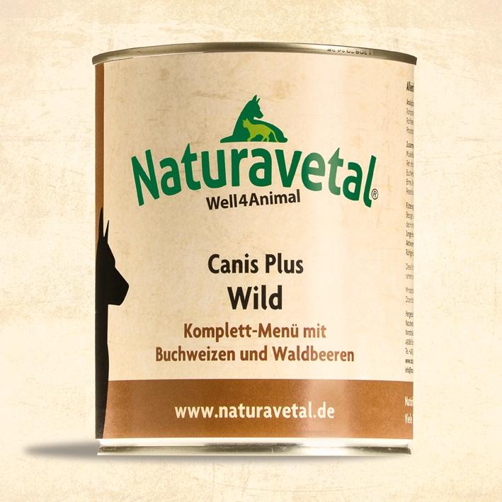 Naturavetal Canis Plus konzerva Divočina s pohankou a lesními plody Obsah: 820g