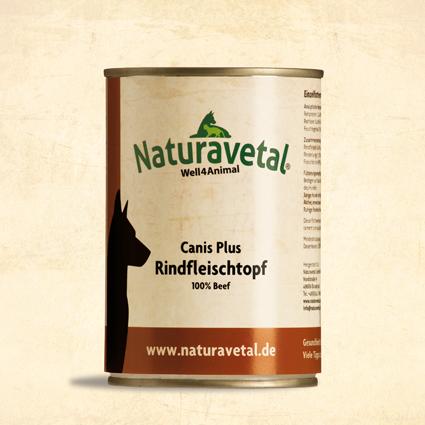 Naturavetal Canis Plus konzerva Hovězí maso Obsah: 410g