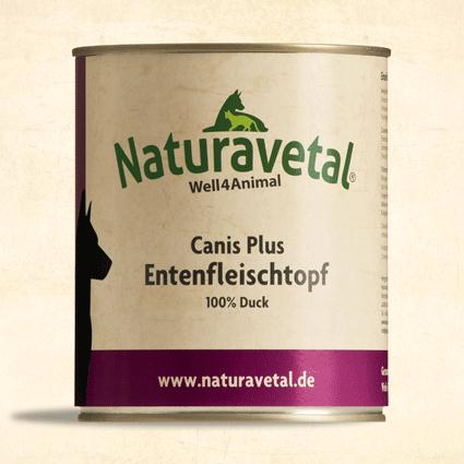 Naturavetal Canis Plus konzerva Kachní maso Obsah: 820g