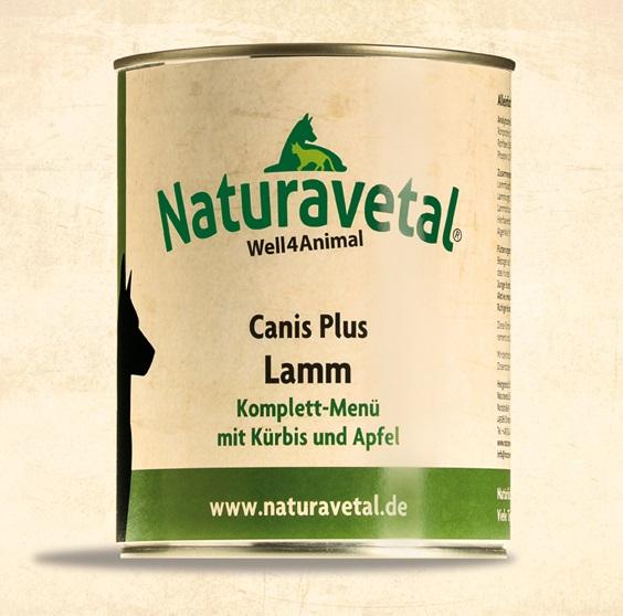 Naturavetal Canis Plus konzerva Jehněčí maso s dýní a jablkem Obsah: 820g