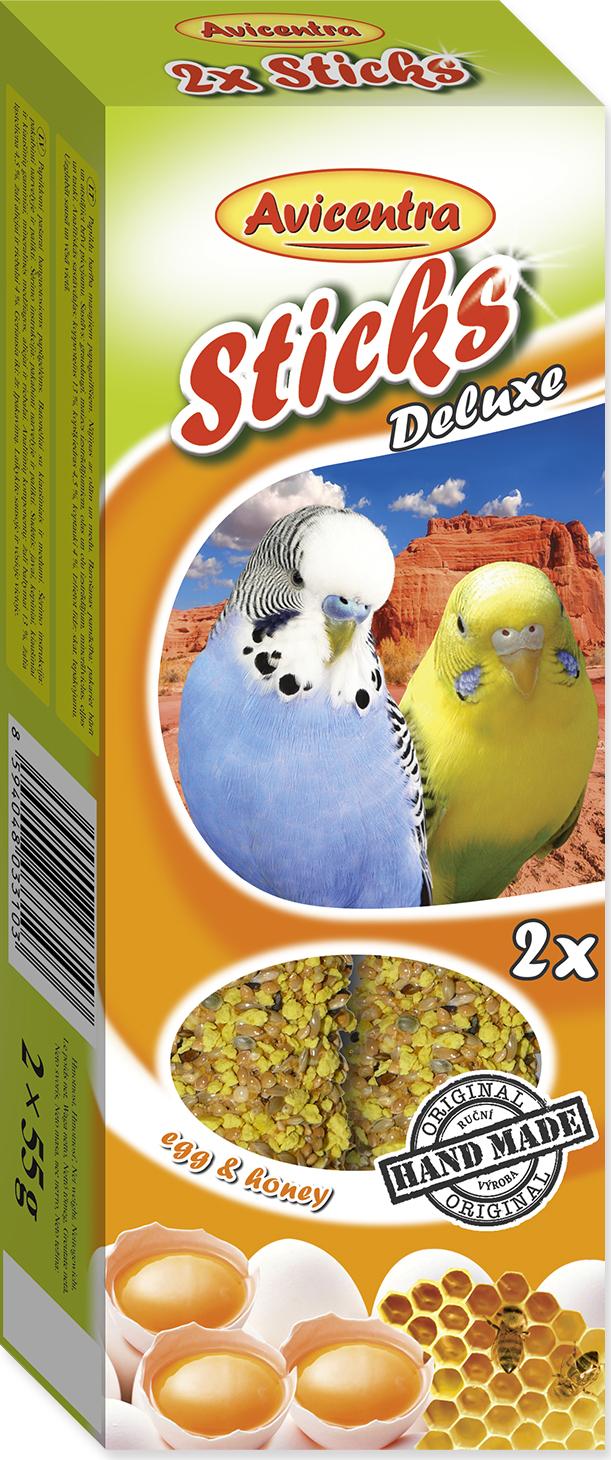 Tyčinky AVICENTRA s vejci s medem pro andulky 2tyčinky