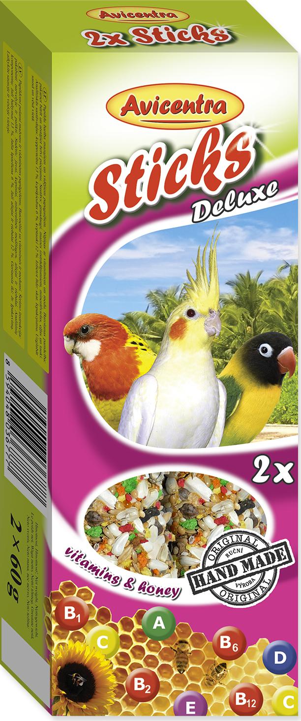 Tyčinky AVICENTRA vitamínovo - medové pro malé papoušky 2tyčinky