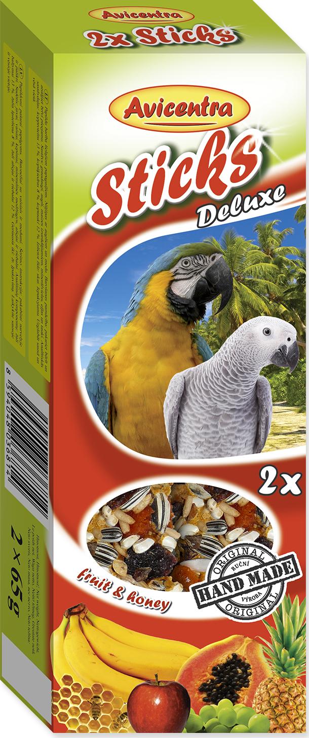 Tyčinky AVICENTRA ovocné + med pro velké papoušky 2tyčinky
