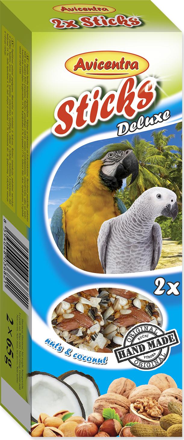 Tyčinky AVICENTRA ořechové + kokos pro velké papoušky 2tyčinky
