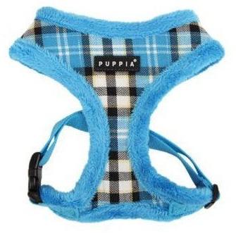 Puppia Harness postroj pro psa zateplený s kožíškem Velikost: S, Barva: Modrá